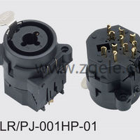 custom-made xlr cannon combo connector supplier,XLR-PJ-001HP-01