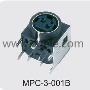 High quality 3 pin din female connector manufactures,MPC-3-001B
