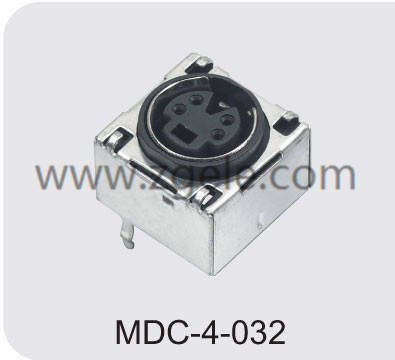 Customized mini din connectors / audio-video combo manufactures,MDC-4-032