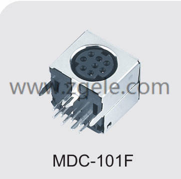 cheap 8 pin mini din connector supplier,MDC-101F