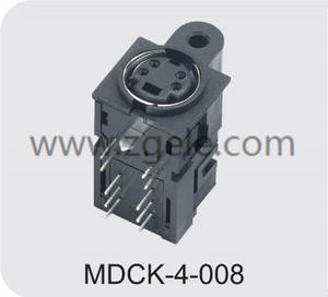 cheap 6 pin mini din female connector discount