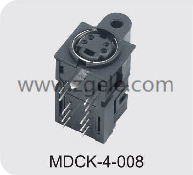 cheap 6 pin mini din female connector discount,MDCK-4-008