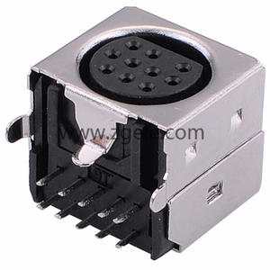 custom-made 10 Hole Female Din connector Mini Din S Video Connector supplier