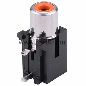 china 3 outlet rca connectors 6 pin RCA Jack for pcb mount manufactures