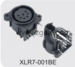 High quality 7 Pin With Push Switch XLR Combo Socket supplier