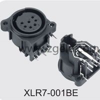 High quality 7 Pin With Push Switch XLR Combo Socket supplier,XLR7-001BE