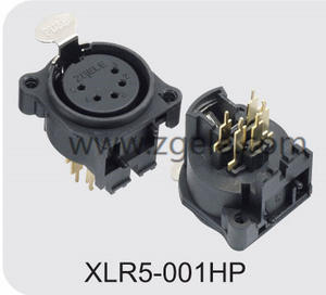 china Gold 5pole Microphone socket Female xlr to jack wiring supplier