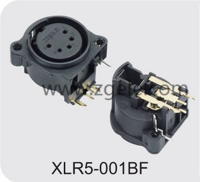 custom-made Xlr Pin Microphone Connector exportes,XLR5-001BF