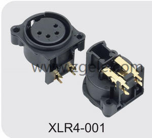 custom-made Male Female XLR Connector with 3  4  5  6 or 7 Pins factory