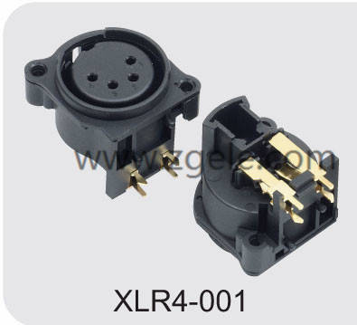 Male Female XLR Connector with 3  4  5  6 or 7 Pins,XLR4-001