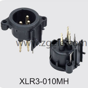 Low price 3-pin connector supplier,XLR3-010MH