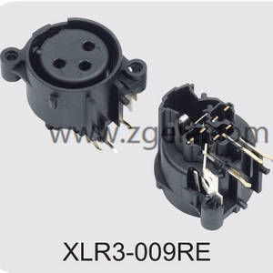 Low price Female XLR 3p receptacle vertical type supplier,XLR3-009RE