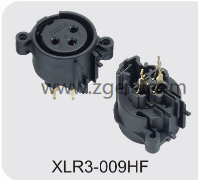 Low price XLR male and female connector supplier,XLR3-009HF