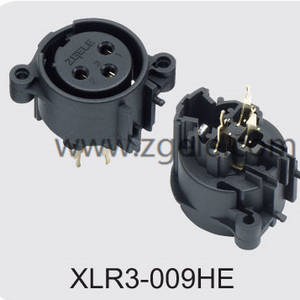 Low price 3 pole vertical XLR audio/light receptacle factory,XLR3-009HE