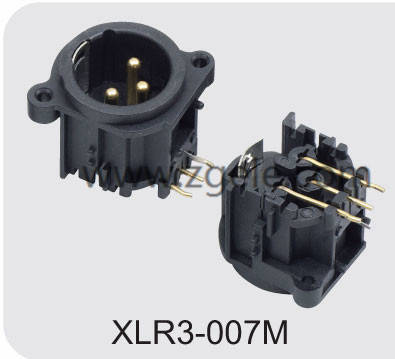 High quality 3 Pin Female XLR Connector exportes,XLR3-007M