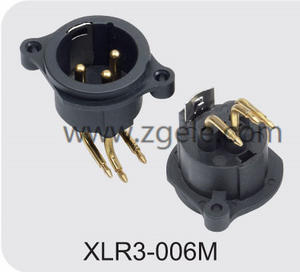 High quality 250V 6A socket XLR Connector manufactures