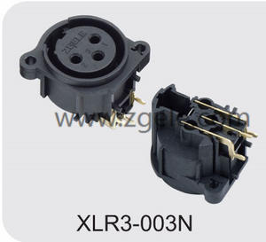 Low price Durable 3P Vertical Zgele Female Xlr Cable Receptacle factory
