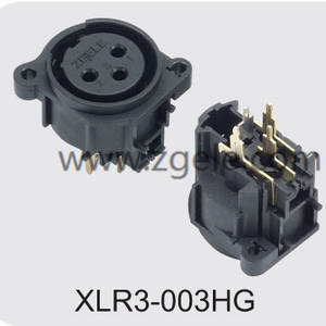 Low price CT XLR panel Connector socket supplier,XLR3-003HG