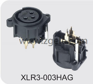 Low price XLR female receptacle with RoHs certificate supplier