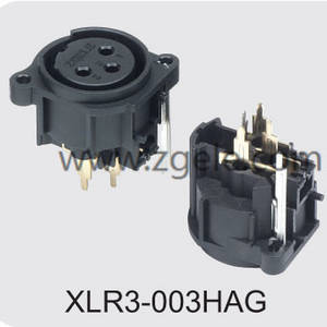 Low price XLR female receptacle with RoHs certificate supplier,XLR3-003HAG