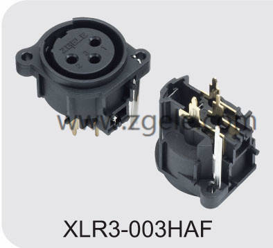 Customized 3p XLR Male Mixer Connector Vertical Pins discount,XLR3-003HAF