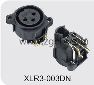 High quality Durable 3P Vertical Zgele Female Xlr Cable Receptacle supplier