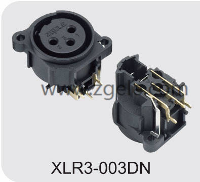 Durable 3P Vertical Zgele Female Xlr Cable Receptacle,XLR3-003DN