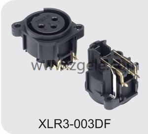 Low price 3p Gold Plating Black Housing XLR Male Socket with RoHs Mark supplier