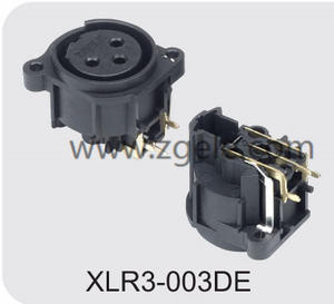 Low price 3 hole female XLR cable receptacle factory