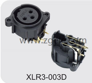 Low price 3p Gold Plating Black Housing XLR Male Socket with RoHs Mark factory