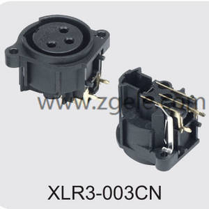 Low price 5000 times panel mount XLR connector manufactures,XLR3-003CN