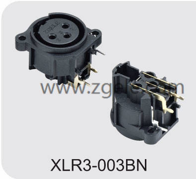 Male Female XLR Connector with 3  4  5  6 or 7 Pins,XLR3-003BN