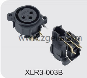 High quality Male Female XLR Connector with 3  4  5  6 or 7 Pins factory