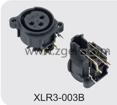 High quality Male Female XLR Connector with 3  4  5  6 or 7 Pins factory,XLR3-003B