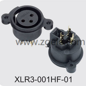 Customized 5000 times panel mount XLR connector brands,XLR3-001HF-01