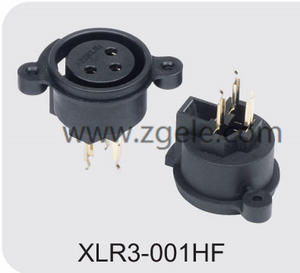 custom-made 250V 6A socket XLR Connector manufactures