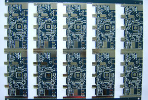 local manufacturer 4L FR4 Lead-free HASL blue multilayer board pcb factory