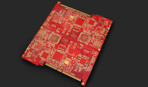 universal 6L red 6-4mil min-hole 0.3mm FR4 gold-finger board  price