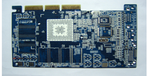 high quality 10L blue HASL planting gold-finger PCB board exporter