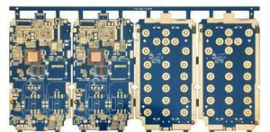 fabrication 2L 0.5mm FR4 blue Keyboard immersion gold PCB board  expert