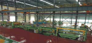 Rotary shearing cut to length line