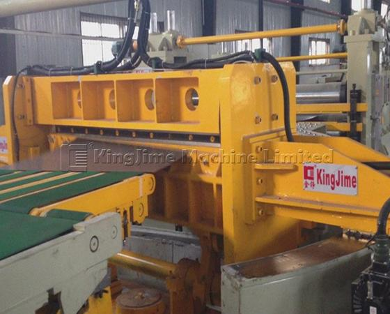 Steel coil trapezoid cutting line by swinging shear