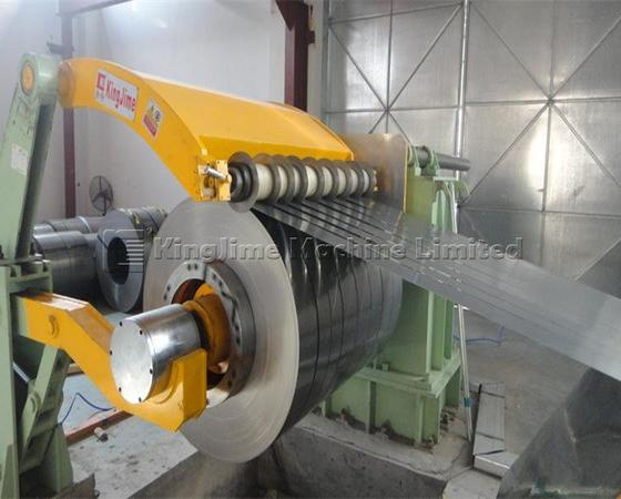 Low speed steel slitting line