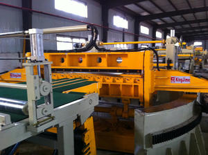 swinging shear cut to length line