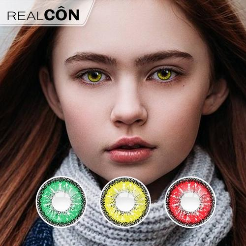 Realcon Wholesale Colored Contacts Crazy Lens Snowflake Lens Exporter