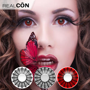 606044be4f3 Realcon Wholesale Fashion Contact Lens Colored Spider Lens Supplier
