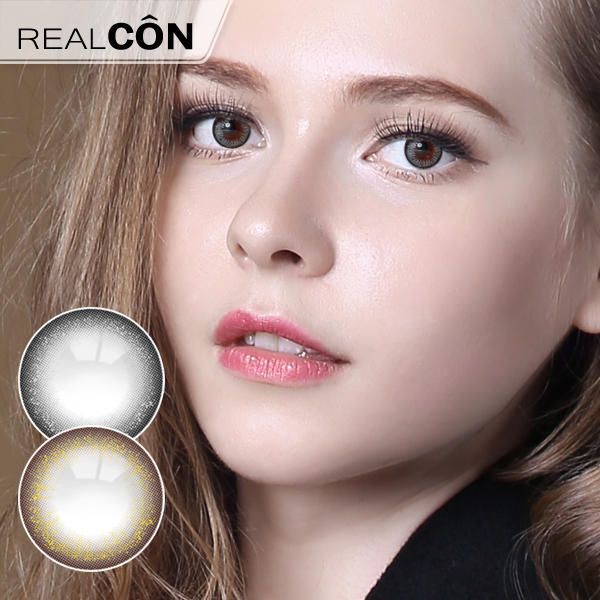 Realcon Wholesale Gold Powder and Silver Powder Colored Contact Lenses Supplier