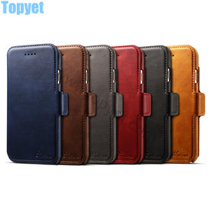 China new 2018 Two in one wallet leather cases for iPhone x and iPhone 8 series