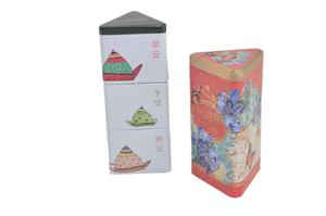 customized triangular tea can, tea candy, tea tin box