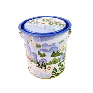 round candy tin with handle